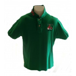 Polo HIP WAY Italia homme MC vert