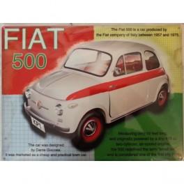 Plaque FIAT 500