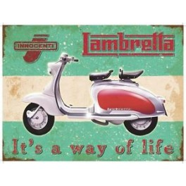 Plaque LAMBRETTA IT'S A WAY OF LIFE