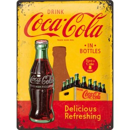 Plaque DRINK Coca-Cola IN BOTTLES