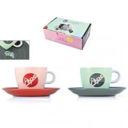 Set 2 tasses à café APE