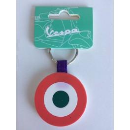 Porte-clé Vespa bicolore target/blanc