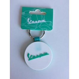 Porte-clé Vespa bicolore blanc/vert