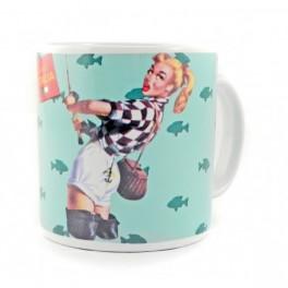 Mug PIN-UP turquoise