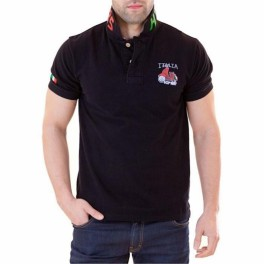 Polo HIP WAY ITALIA homme MC noir