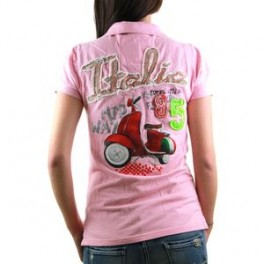 Polo HIP WAY ITALIA femme MC rose