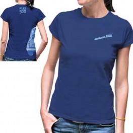 Tee-shirt femme FIAT 500 bleu