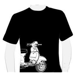 Tee-shirt homme Vespa noir