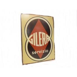 Plaque métal GILERA SERVIZIO