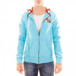 Veste HIP WAY HOODY capuche fille turquoise